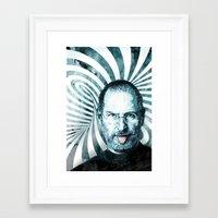 steve jobs Framed Art Prints featuring Steve Jobs by michael pfister