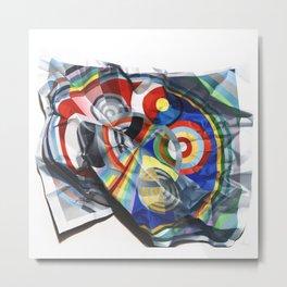 A Delaunay crumpled. Metal Print