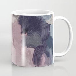 Teal Indigo Lavender Abstract Wall Art, Feminine Painting Print, Modern Wall Art Coffee Mug