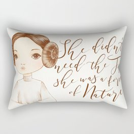 Leia - She didn't need The Force Rectangular Pillow