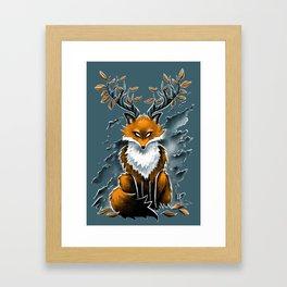 Deer Fox Framed Art Print
