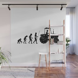Farmer Evolution Tractor Retro Look Wall Mural