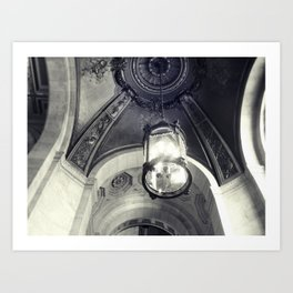 Library Contemplation Art Print