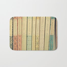 Old Books Bath Mat