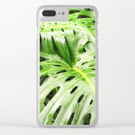 Monstera in Costa Rica Clear iPhone Case
