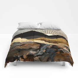 Copper and Gold Mountains Comforters