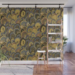 Tree Huggers in Gold Wall Mural