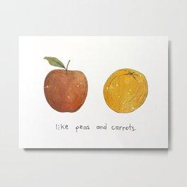 Peas & Carrots Metal Print