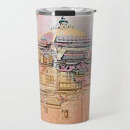 Rajasthan India Temple Sunrise Travel Mug