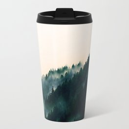 Watercolour Green Fog Forrest Travel Mug