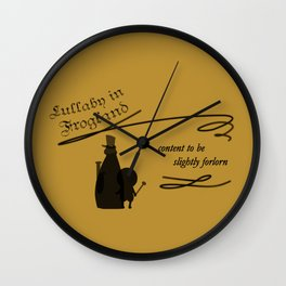 Lullaby in Frogland Wall Clock