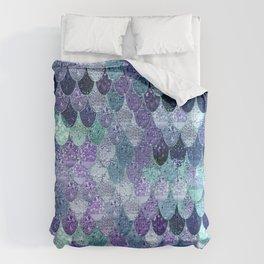 SUMMER MERMAID  Purple & Mint by Monika Strigel Comforters