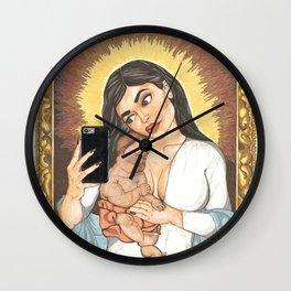 Kylie Con Il Bambino Wall Clock