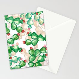 cactus with a red flowers Stationery Cards