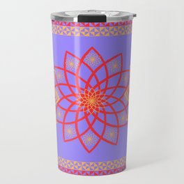 Stylized flowers Travel Mug