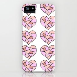 Shattered Heart Pattern iPhone Case
