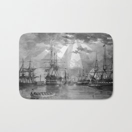 Civil War Ships of the United States Navy Bath Mat