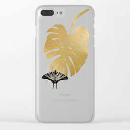 Butterfly & Monstera Clear iPhone Case
