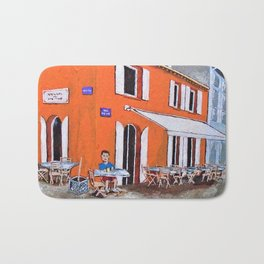 Little Cafe In Provence Bath Mat