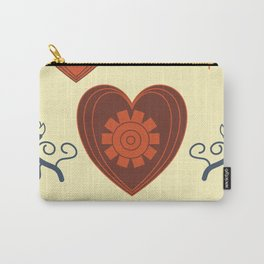 Hearts and flowers pattern Carry-All Pouch