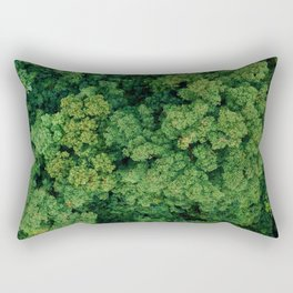 Greenery Forest (Color) Rectangular Pillow