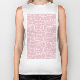 Square Pattern Pink Biker Tank