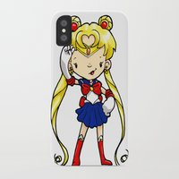 sailor moon iPhone & iPod Cases featuring Sailor Scout Sailor Moon by Space Bat designs
