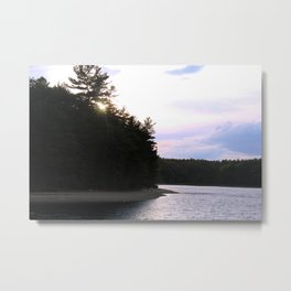 Sunset at Concord's Walden Pond Metal Print