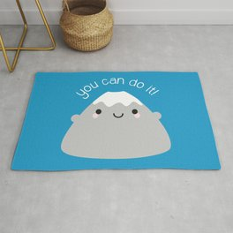 You Can Do It! Kawaii Mt Fuji Rug