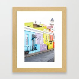 Bo Kaap Neighborhood Framed Art Print