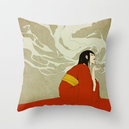 volcano -day version- Throw Pillow