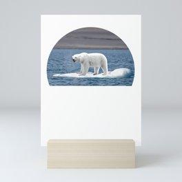 polar bear icebear please help please help me climate Mini Art Print