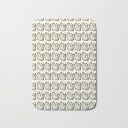 Sketched cat picture tiled pattern cream Bath Mat