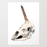 Unicorns are Dead Art Print