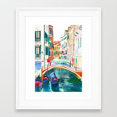 Canal in Venice Framed Art Print