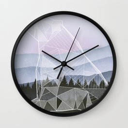 Geometric Nature - Bear (Full) Wall Clock