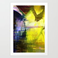 Melted In Art Print