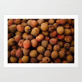 Fresh Lychees Art Print
