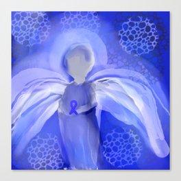 Cancer Awareness Angel Canvas Print