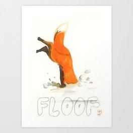 Ink Fox - Snow Floof Art Print