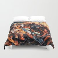 chinese Duvet Covers featuring Chinese Koi by Alexander Jedermann