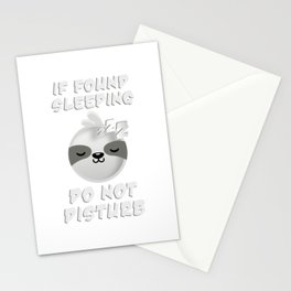 Do not wake sleeping for sleeping sloths Stationery Cards