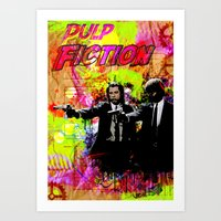 pulp fiction Art Prints featuring Pulp Fiction  by Zoé Rikardo