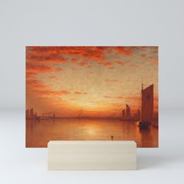 A Sunset, Bay of New York Landscape Painting by Sanford Robinson Gifford Mini Art Print