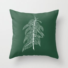 Stinging Nettle Throw Pillow