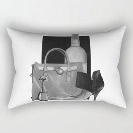 Fashion Illustration - Ink Wash Rectangular Pillow
