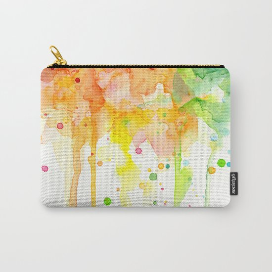 Rainbow Watercolor Pattern Texture Carry-All Pouch