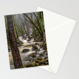 Bridalveil Creek, Yosemite National Park is swollen with snowmelt runoff on an early Spring morning Stationery Cards