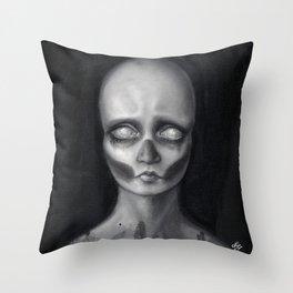 Death masque Throw Pillow