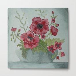 Ikebana Flowers Metal Print